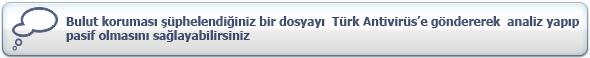 Türk Antivirüs Bulut Özelligi