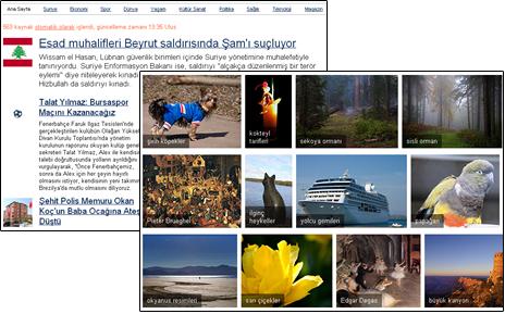 Yandex Görsel ve Haberlerl