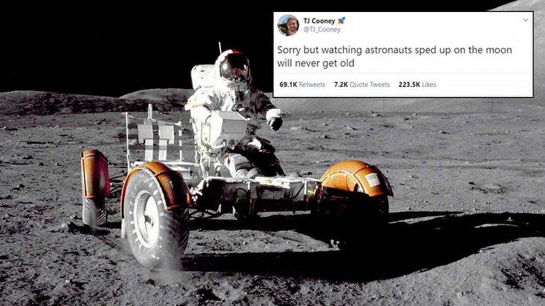 Astronotların Ay'da Yürümesi Sırasında, Komik Olaylar da Yaşanıyor
