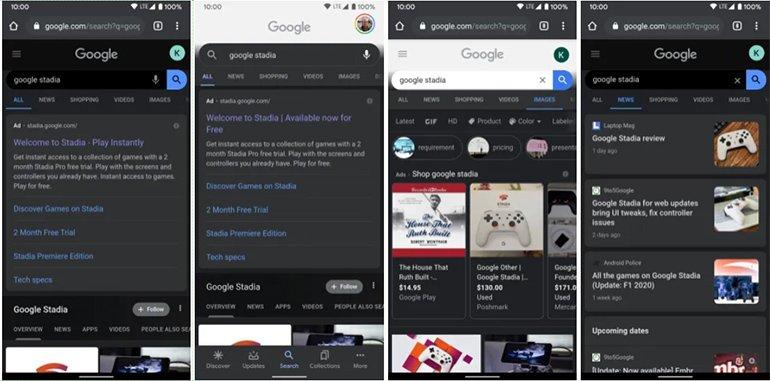 Google Koyu Modu Çok Sevdi; Şimdi de Android Web Sayfasına Taşıyor