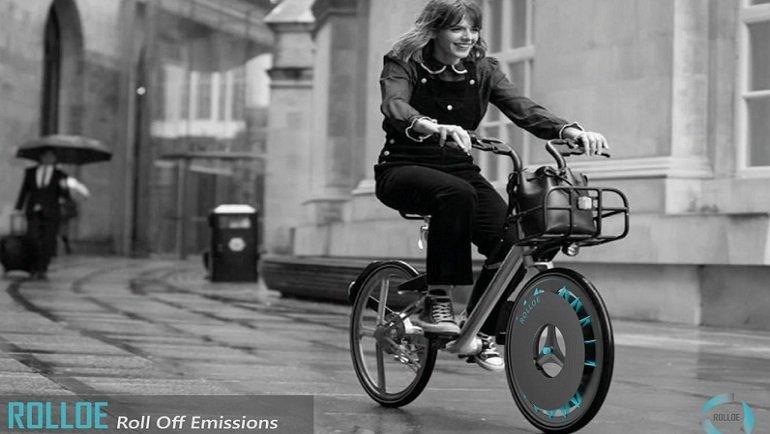 Havayı temizleyen bisiklet tekerleği ROLLOE geliştirildi! İşte tasarımı