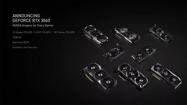 Nvidia'nın Yeni RTX 3060 GPU'su, Işın Takibini Herkese Getirecek!