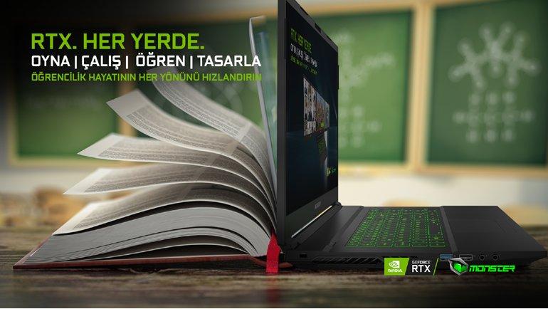 RTX Ekran Kartlı Monster Notebook'larla Oyunda ve Okulda Yüksek Performans