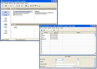 OpenOffice Veri tabanı